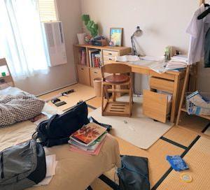 中学生用片付けやすいお部屋。