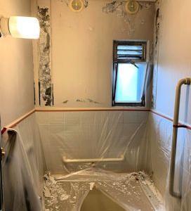 お風呂と玄関ドアの塗り替え。