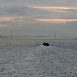 阪九フェリー新造船「やまと」ロイヤルルーム満喫の旅⑤・明石海峡大橋