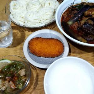 台風前の夕飯