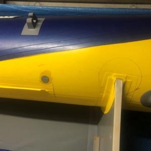 ゴムボートメーカー修理(アキレス)&2馬力船外機メンテナンス