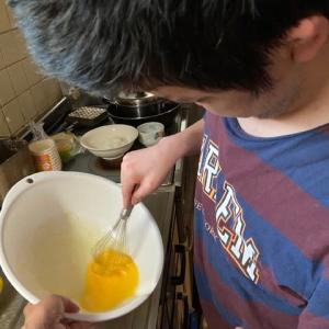 おうち時間:チーズ蒸しパン作り