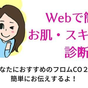 お肌・スキンケア診断が簡単にWebでできるようになったよ!