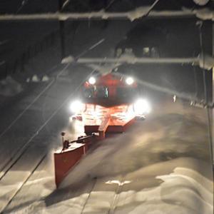 函館本線 臨時ラッセル 雪8164レ DE15 1535 2021.1.9