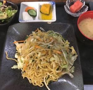 北海道  醤油焼きそば定食