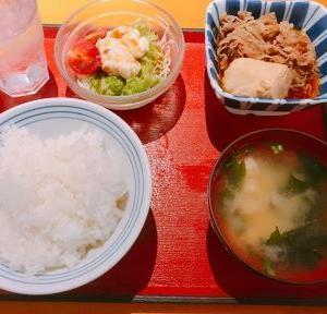 中山公園食堂 本日の定食セット(すき焼き)