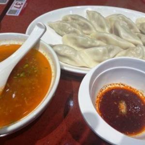 喜家徳  白菜豚肉水餃、トマトタマゴスープ