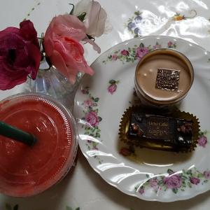 LAWSONのGODIVAのショコラケーキ&ダブルチョコプリン。