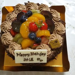 ろまん亭の誕生日ケーキ。