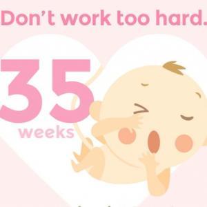 *妊娠35週目〜食事制限の徹底!健康な体作り*