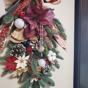 フレッシュもみの木のクリスマススワッグ一日目ワークショップ