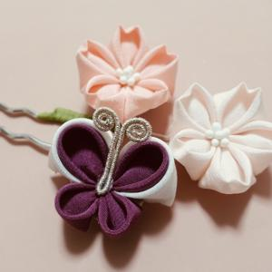 生徒様の作品 二重丸つまみ 蝶々と桜