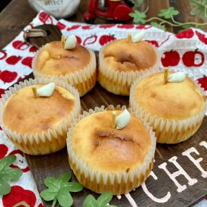 林檎チーズケーキとお弁当