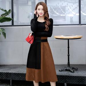 【新作】バイカラースカートで秋コーデ♡