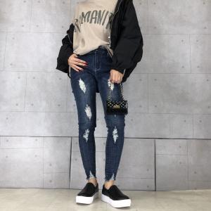 【N0.010】黒ブルゾンで韓国ファッション風に