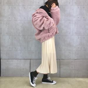 【No.021】甘すぎないくすみピンクのMIXスタイル