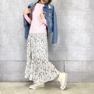 【No.043】春にぴったり 涼しげなシフォンスカートコーデ