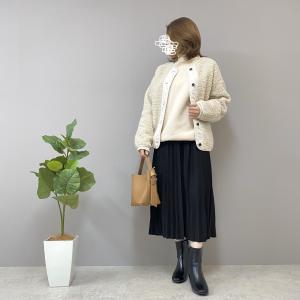 【No.120】スウェット×プリーツスカートできれいめカジュアルコーデ♪