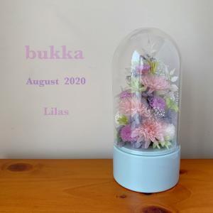 ガラスドームの仏花