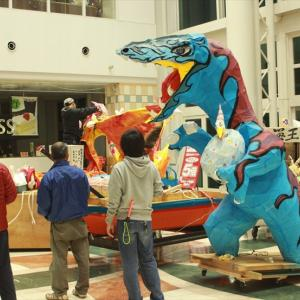 【豪華】ゆめタウンはませんに恐竜ねぶた登場!【3台展示】