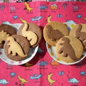 可愛い恐竜型のクッキー!
