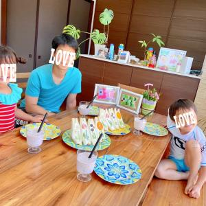 【おうち時間⑅◡̈*】Stay home①③お花のフルーツサンド&バスボム作り♡