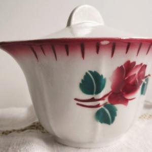 brocante*takacante 薔薇柄シュガーポット ラヴィエ リデアル保存瓶などUP~