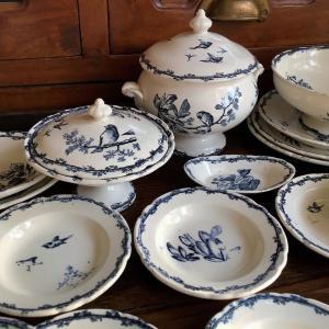 *antique 陶製 鳥・植物柄ディネット/おままごと食器などUP~