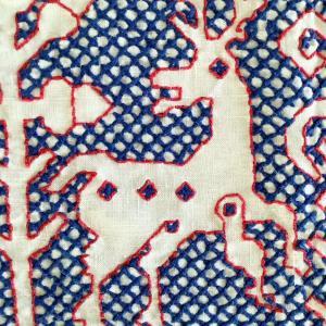 *Christmas 逸品・トナカイ刺繍のクロス! 吹きガラスツリー飾りなどUP~