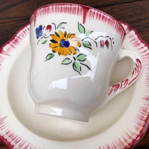 *antique Creil et Montereau花柄C&S 柊柄皿など入りました