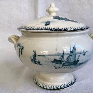 *antique ディネット/おままごと食器 GIEN花柄皿 スタンプなどUP~