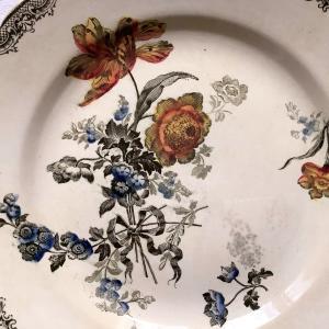 *antique サーグミーヌ製Fontanges色付き皿などUP~