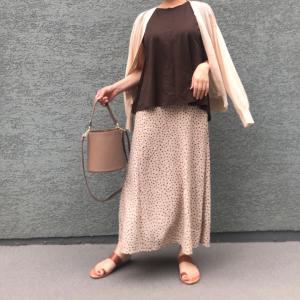 【しまむら】900円に見えないドット柄大人ロングスカート