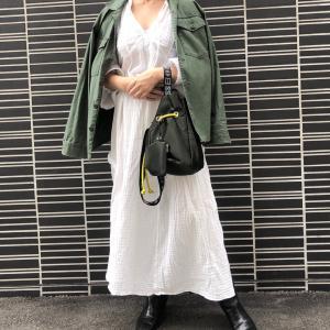 【H&M】秋冬も着たい真っ白ワンピース