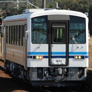 キハ120-311(米ハタ・更新車)後藤出場回送・木次線定期回送 (2019/2/6)