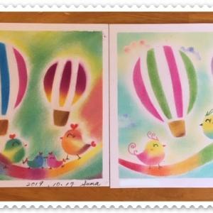 ランチ付き講座☆カラフルな気球&チキンカツランチ♪