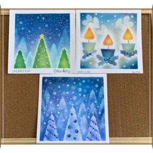 パステルプライベート講座☆夜空の下のクリスマスアート