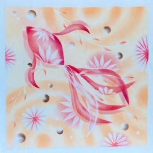 結晶の花Club FCAAモチーフ「ゆらりん金魚アレンジバージョン」