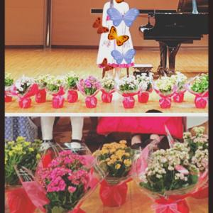 舞台を飾ったお花