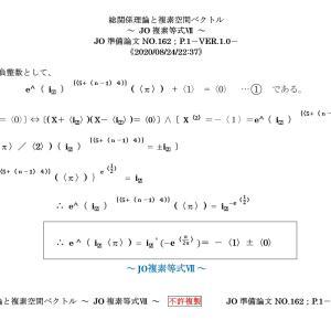 総関係理論と複素空間ベクトル ~ JO複素等式Ⅶ ~ JO準備論文NO.162