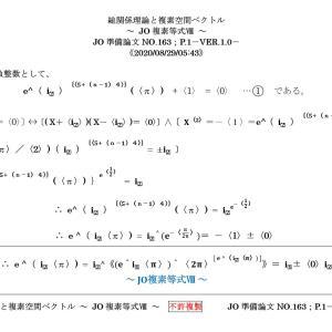 総関係理論と複素空間ベクトル ~ JO複素等式Ⅷ ~JO準備論文NO.163