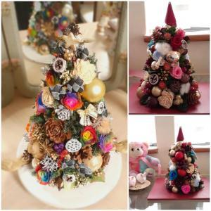 プリザーブドレッスンは年末に向けてクリスマスツリーや羽子板アレンジを!
