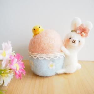 【新作】イースター☆たまごとうさぎさん(羊毛フェルト)
