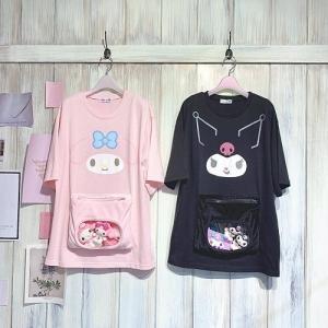 COCODE マイメロディ・クロミ むぎゅポケTシャツ&GRL