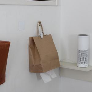 壁掛けティシュケースを紙袋で簡単に作ろう!