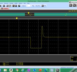 インジェクター波形なんちゃって。(噴射なし)
