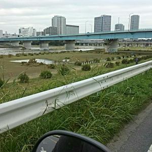 多摩川近辺へ、、、