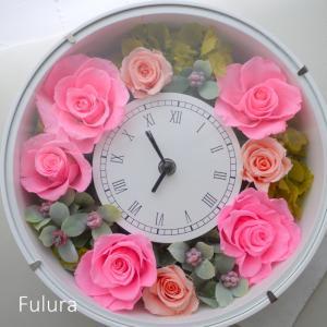 贈り物に花時計☆プリザーブドフラワー
