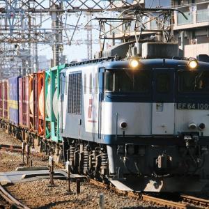 浜川崎界隈228-2(3064レ EF64 1009, 単1776レ EF65 2096, 72レ EF65 2087)