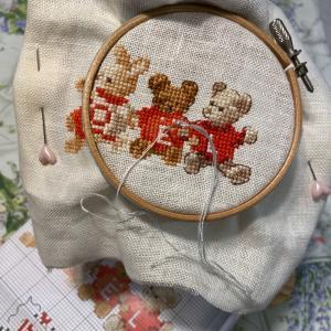クリスマスの刺繍